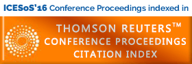 ICESoS'16 Conference Proceedings indexed in THOMPSON REUTERS
